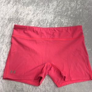 Under Armour Pink Spandex Athletic Yoga Shorts